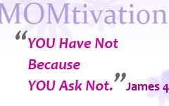 James 4:2 you have not because you ask not