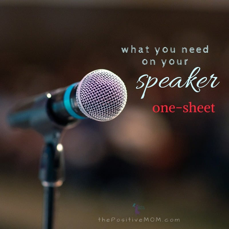 What you need on your speaker one sheet