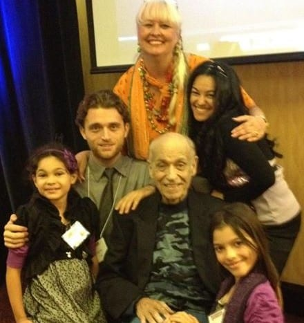 Jay Conrad Levinson Father of Guerrilla Marketing and Elayna Fernandez - Certified Guerrilla Marketing Master Trainer and family : Jeannie Levinson, Taylor Bare, Elisha and Elyssa of WhollyART