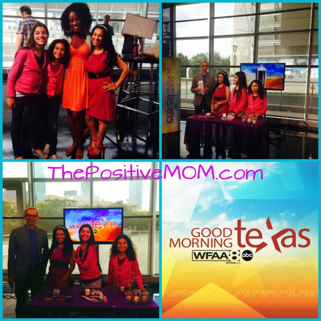 Elayna Fernandez ~ The Positive MOM on Good Morning Texas / WFAA teaching moms how to make fun lanterns with the kids