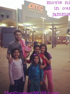 Fernandez Bare Family movie night in jammies HTTYD2