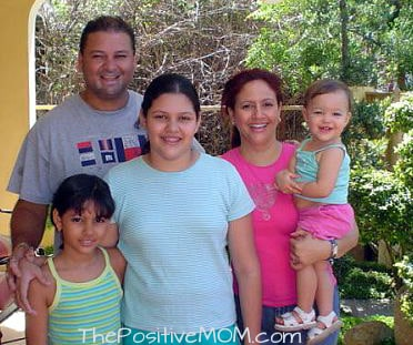 Esther and her family with Elisha on her first visit to the Dominican Republic at 13 months old