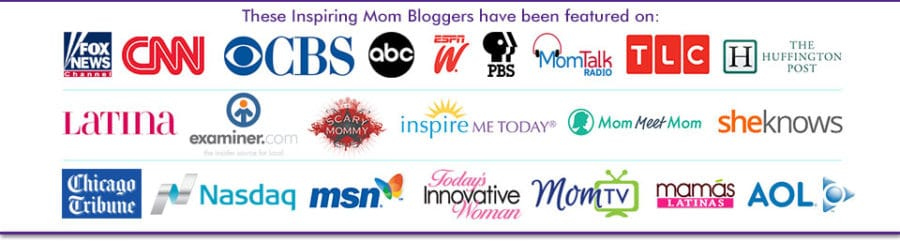 Inspiring Mom Bloggers Featured in the media