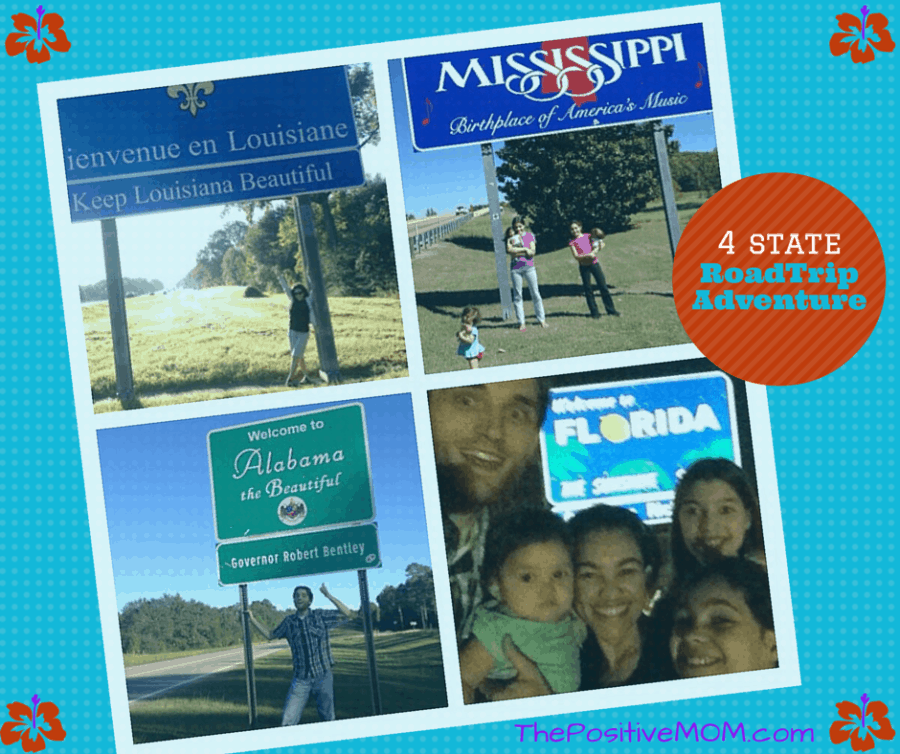 Our family on the state Luisiana, Mississippi, Alabama, and Florida state lines on our way to Niche Parent to teach BALANCE