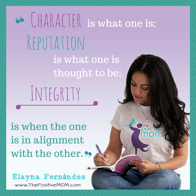 """""""Character is what one is; Reputation is what one is thought to be; Integrity is when the one is in alignment with the other."""" ~Elayna Fernandez~"""