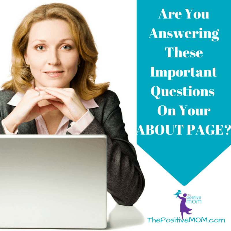 Are you answering these important questions on your about page for your blog?