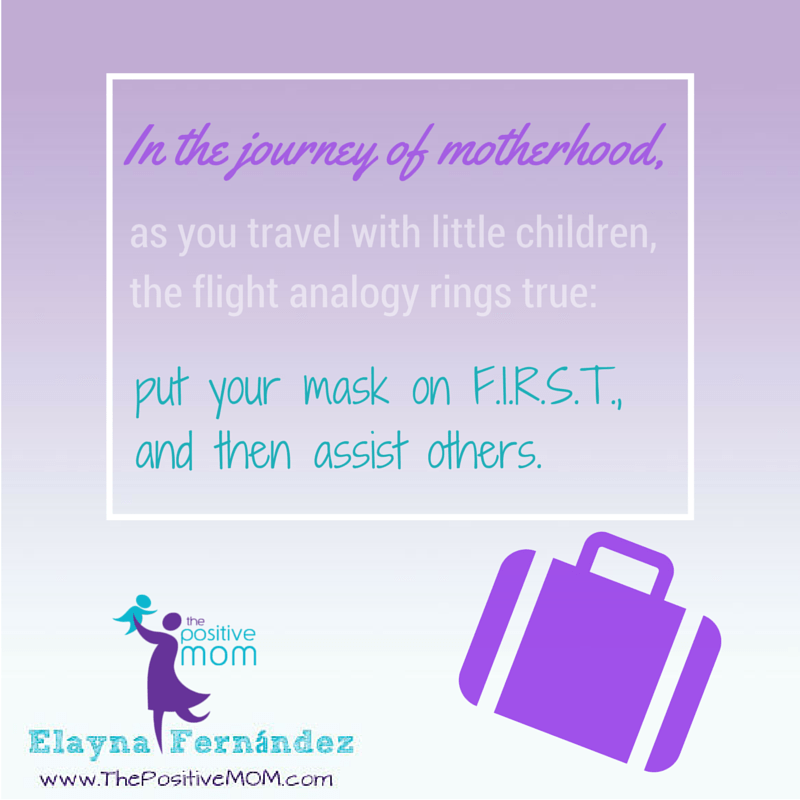 In the journey of motherhood, as you travel with little children, you must put your mask first and then assist others
