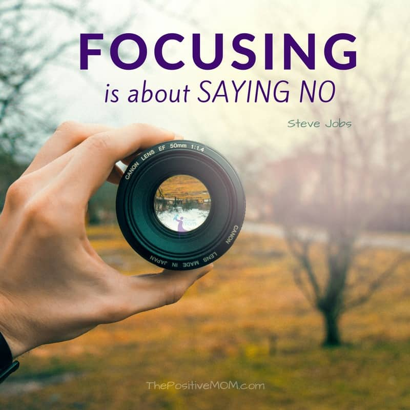 Focusing is about saying NO - Steve Jobs quote