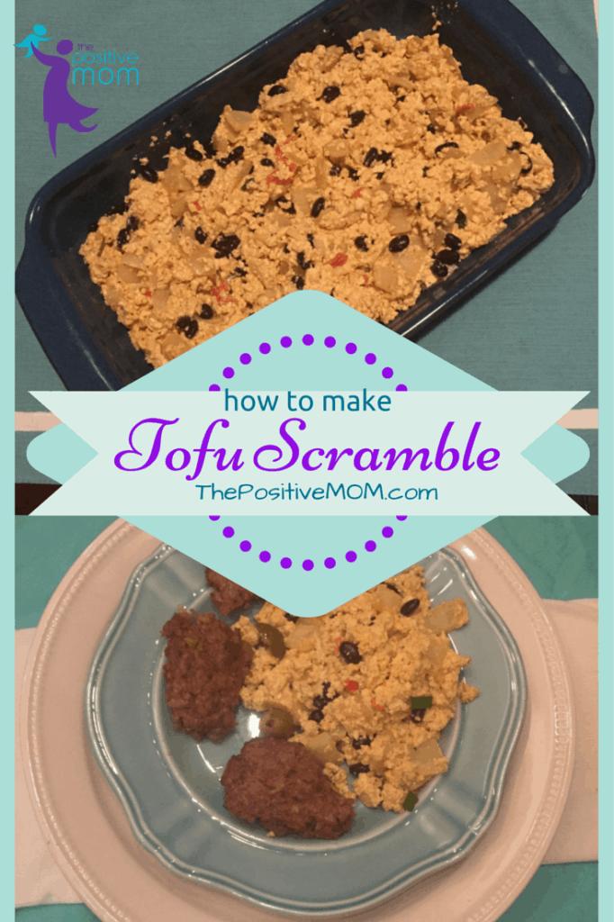 how to make vegan tofu scramble for breakfast (dairy free egg substitute)