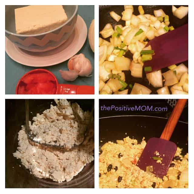 how to make vegan tofu scramble for breakfast - dairy free egg substitute