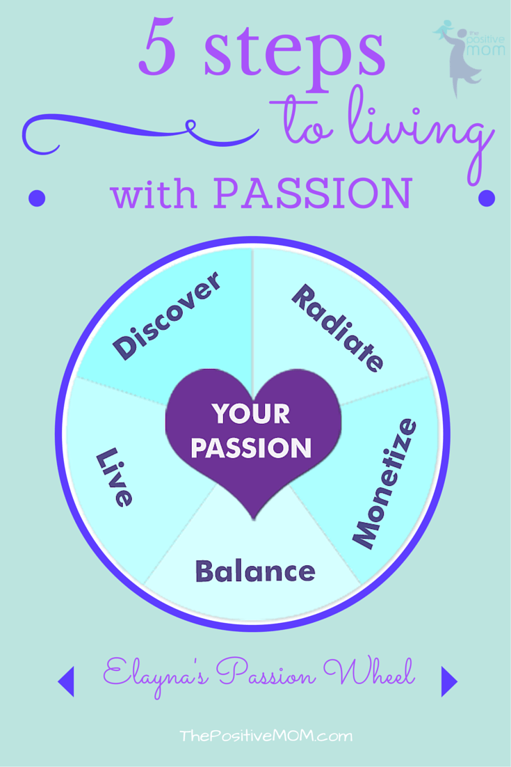 5 steps to living with passion by Elayna Fernandez ~ The Positive MOM