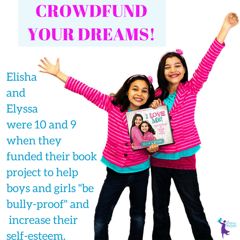 Elisha and Elyssa used crowdfunding for their book I Love ME! Self-esteem in seven easy steps