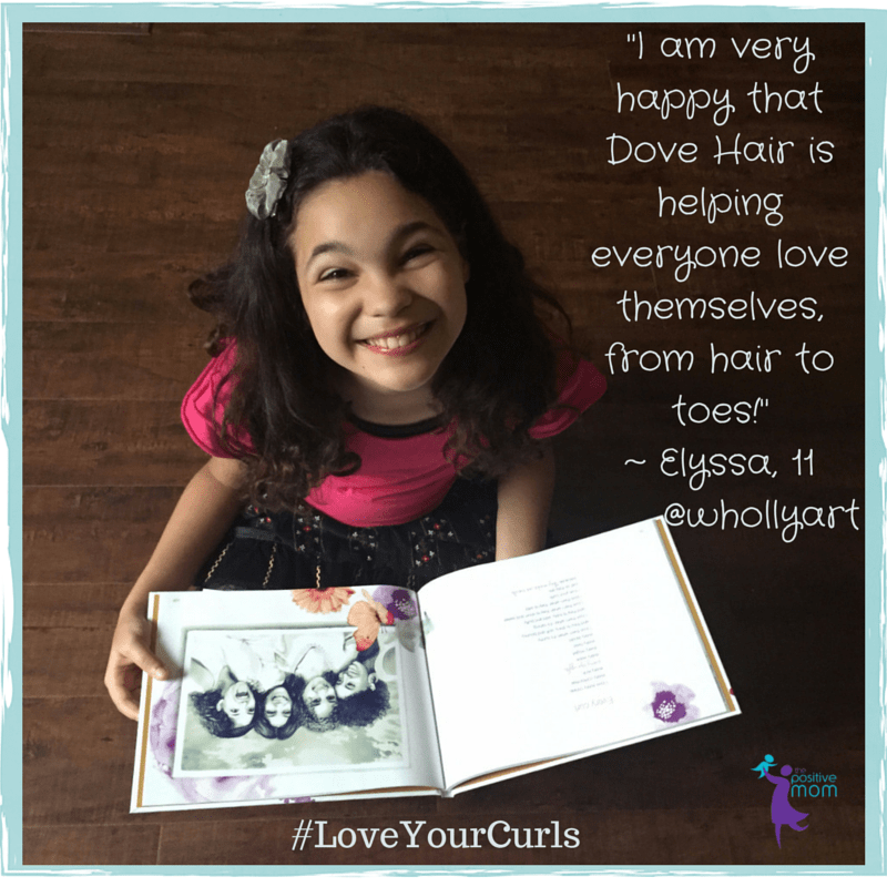 "Elyssa, 11 year old bestselling author of ""I Love ME, Self-Esteem in 7 Easy Steps"" thanks Dove Hair for their efforts to teach young girls to love themselves"