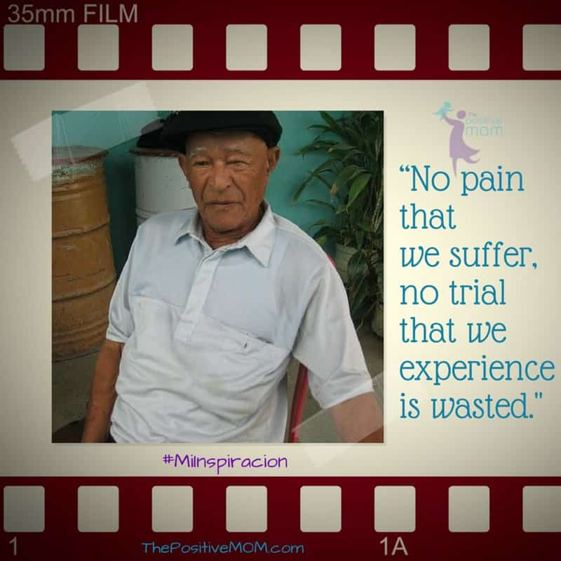 no pain that we suffer, no trial that we experience is wasted
