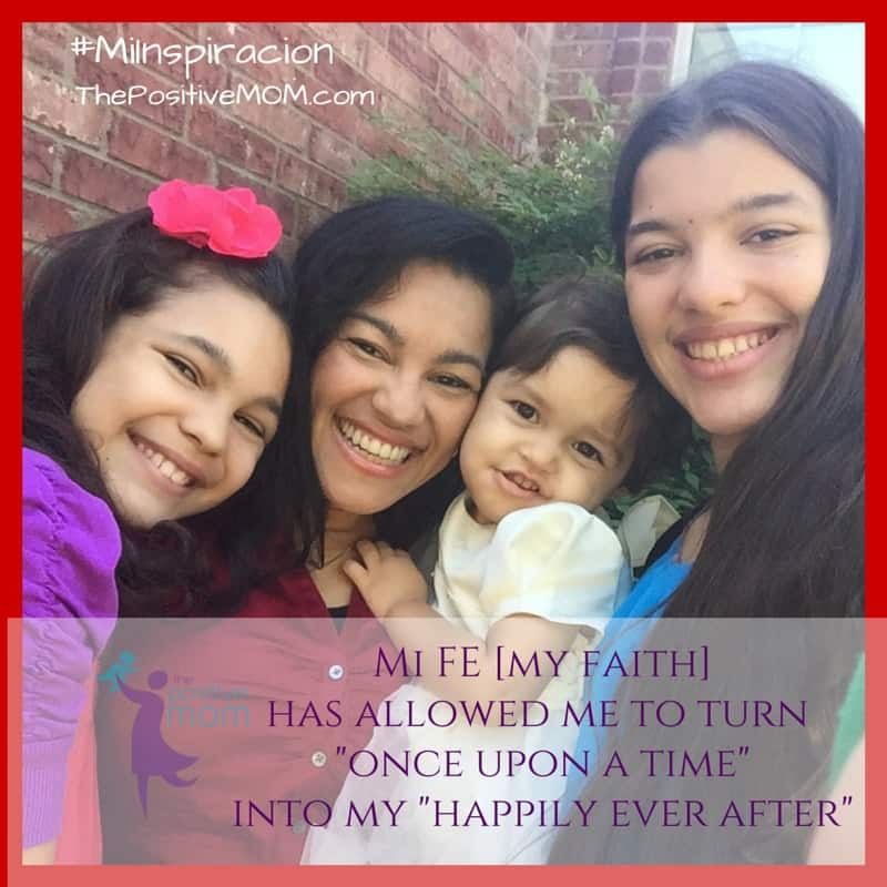 my faith has allowed me to turn my once upon a time into my happily ever after