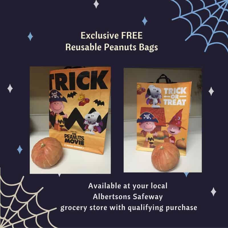 exclusive free reusable Peanuts bag
