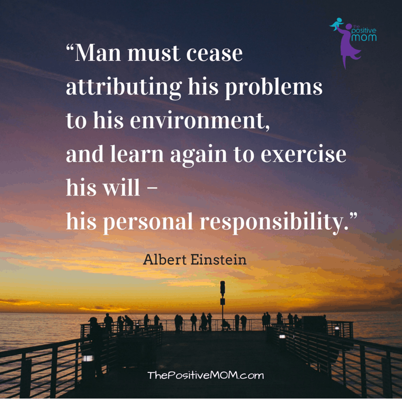 Albert Einstein quote about personal responsibility