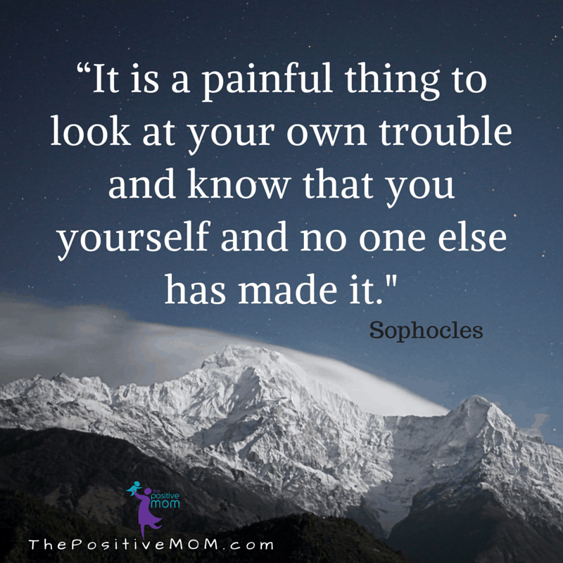 Sophocles quote about personal responsibility