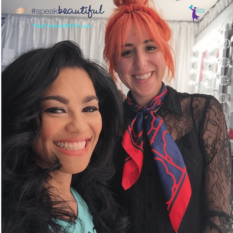 The gift of a confident mom ~ Elayna and celebrity hair stylist Marley Gonzales
