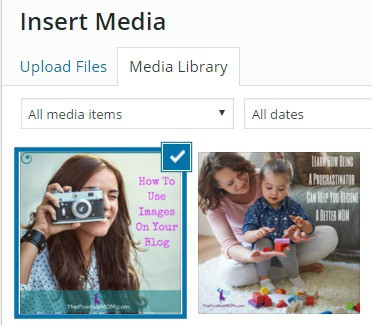 Adding an image to your WordPress gallery