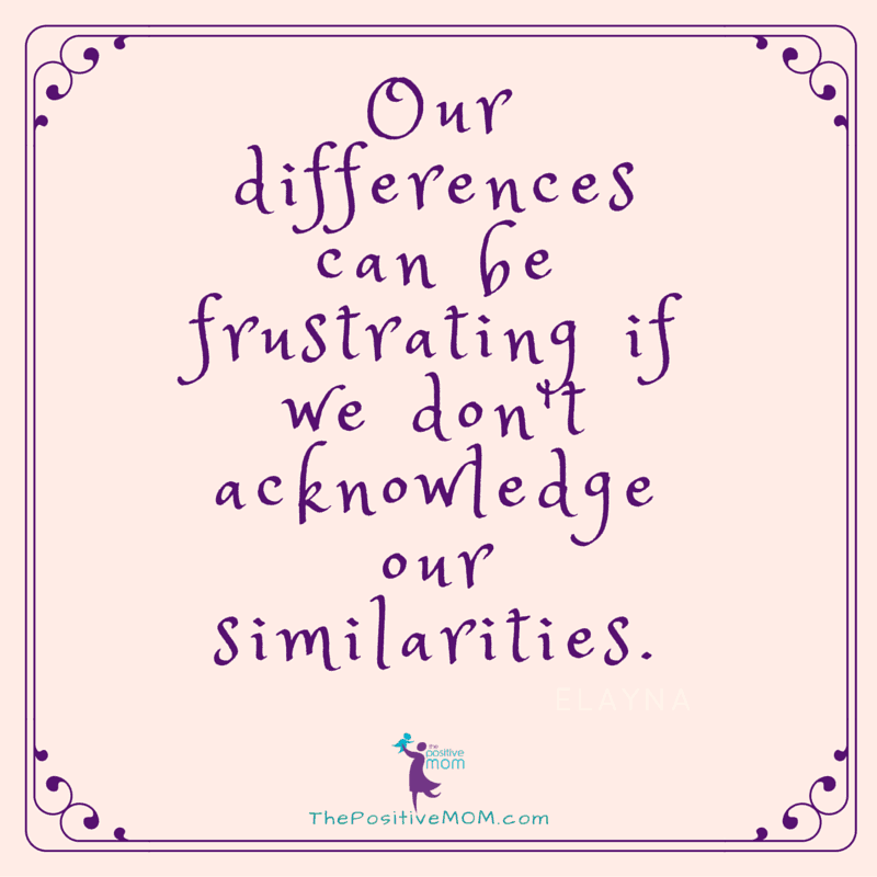 Our differences can be frustrating if we don't acknowledge our similarities