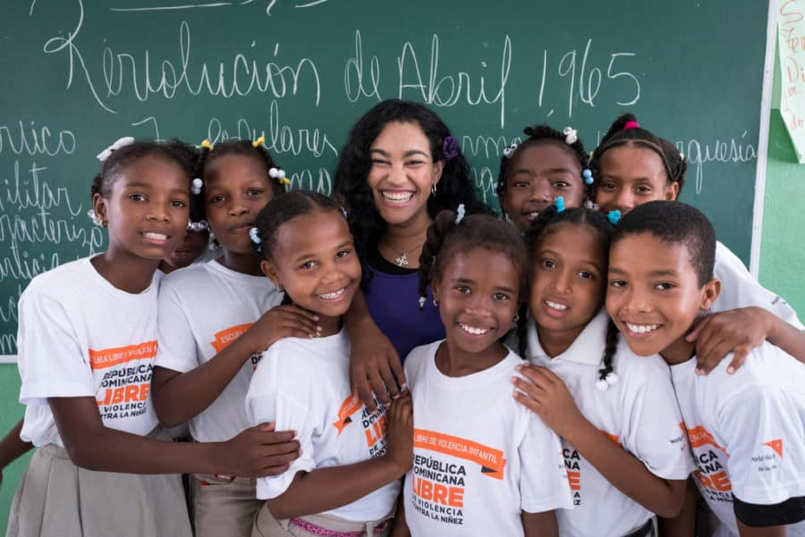 World Vision kids for nonviolence