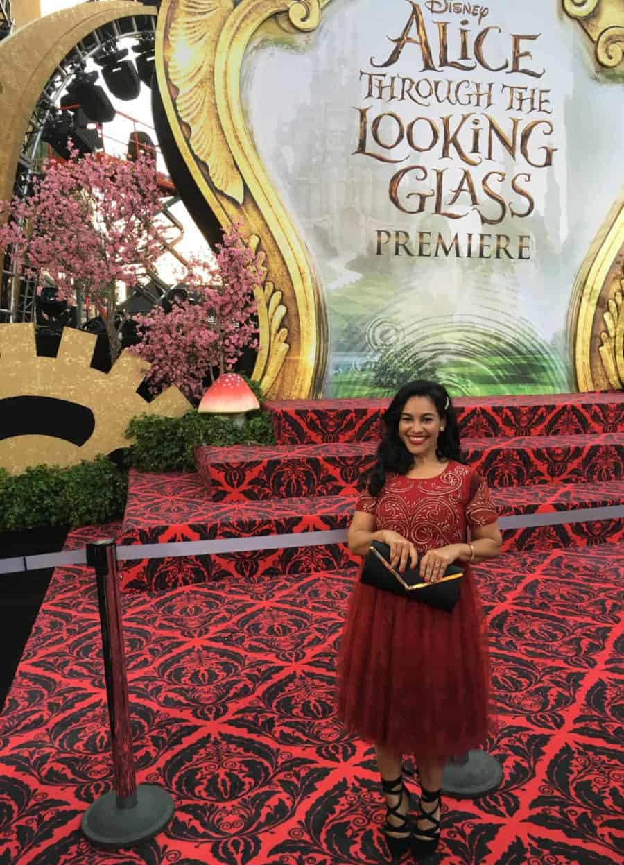 Elayna Fernandez walks the Red Carpet for Alice Through The Looking US Glass Premiere