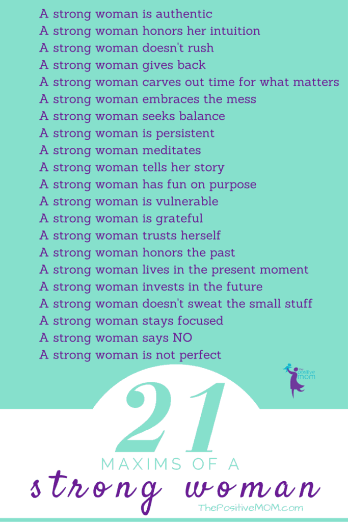 The 21 Maxims of a Strong Woman