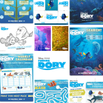 Finding Dory activities for kids, educational packet, coloring pages, scene search, maze, match game, and more!