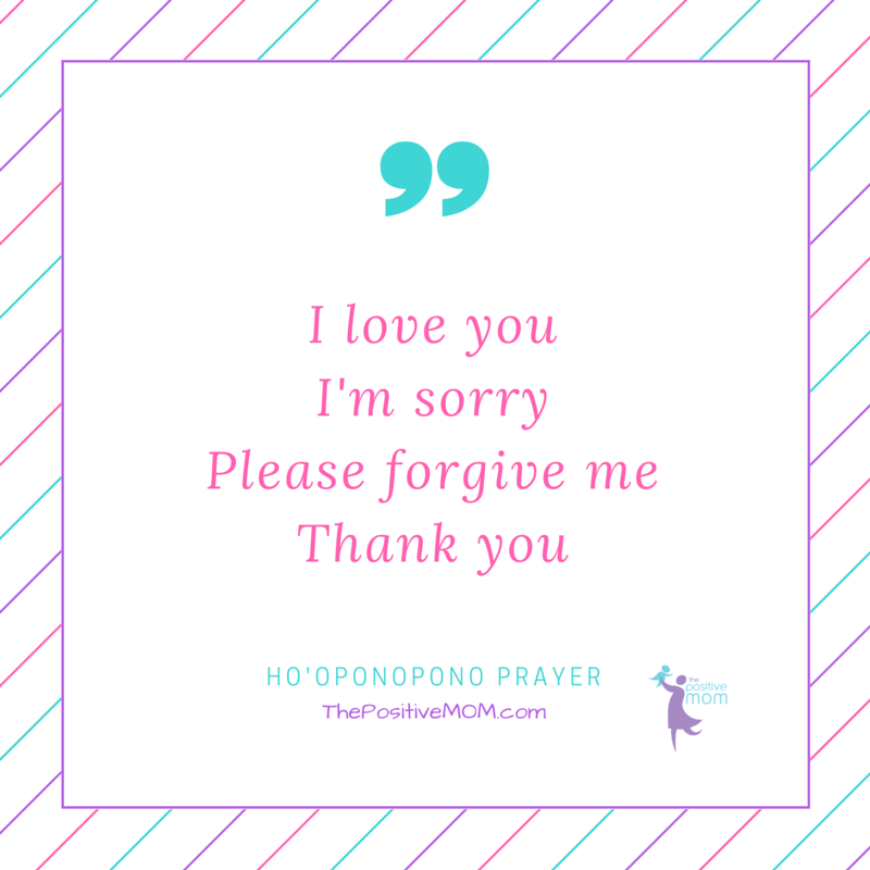 Ho'Oponopono prayer - I love you, I'm sorry, Please forgive me, Thank you!