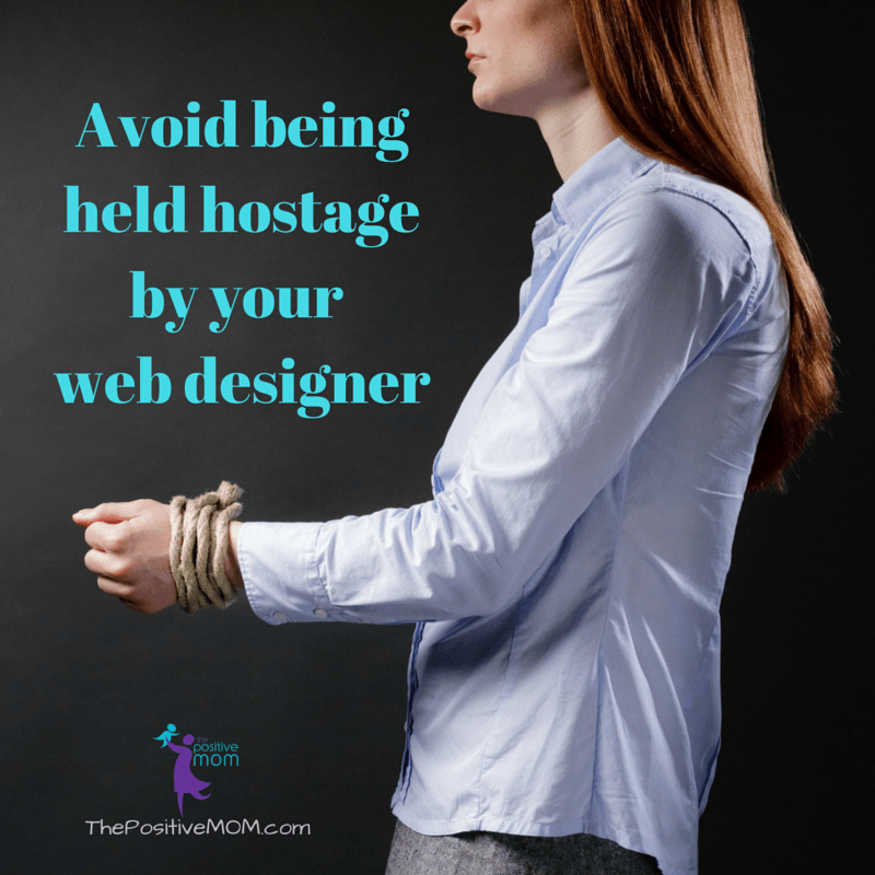 Avoid being held hostage by your web designer
