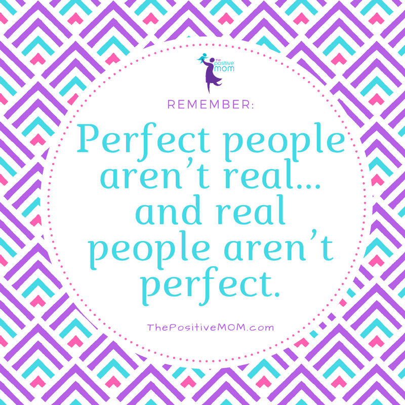 Perfect people are not real and real people are not perfect!