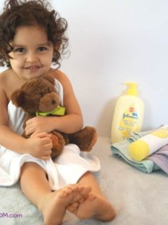 Toddler Massage Time with JOHNSON'S® Baby Head To Toe Line