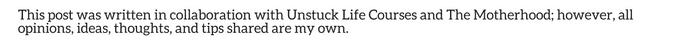 Unstuck Life Courses disclosure
