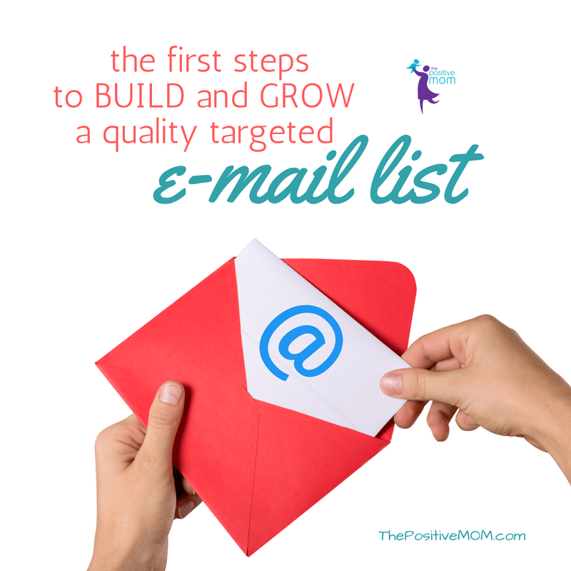 First steps to build and grow a quality targeted e-mail list