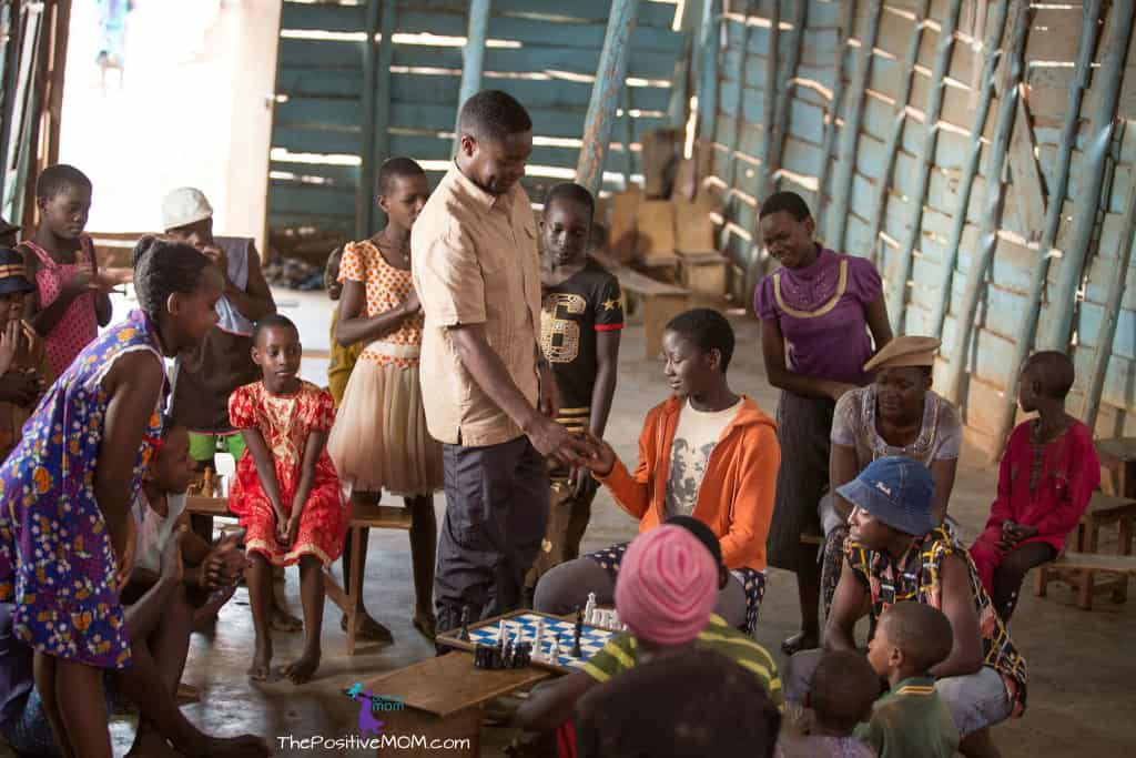Queen Of Katwe - chess prodigies and chess coach Robert Katende in Katwe, Kampala Uganda
