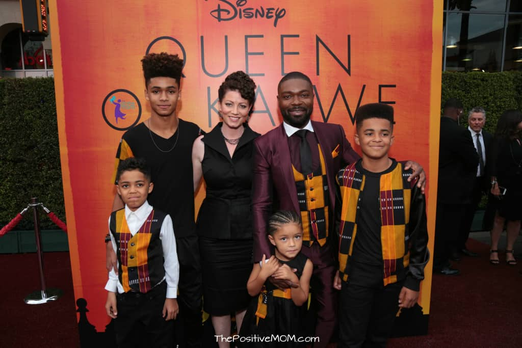 David Oyelowo and his family on the Queen Of Katwe Premiere in Los Angeles