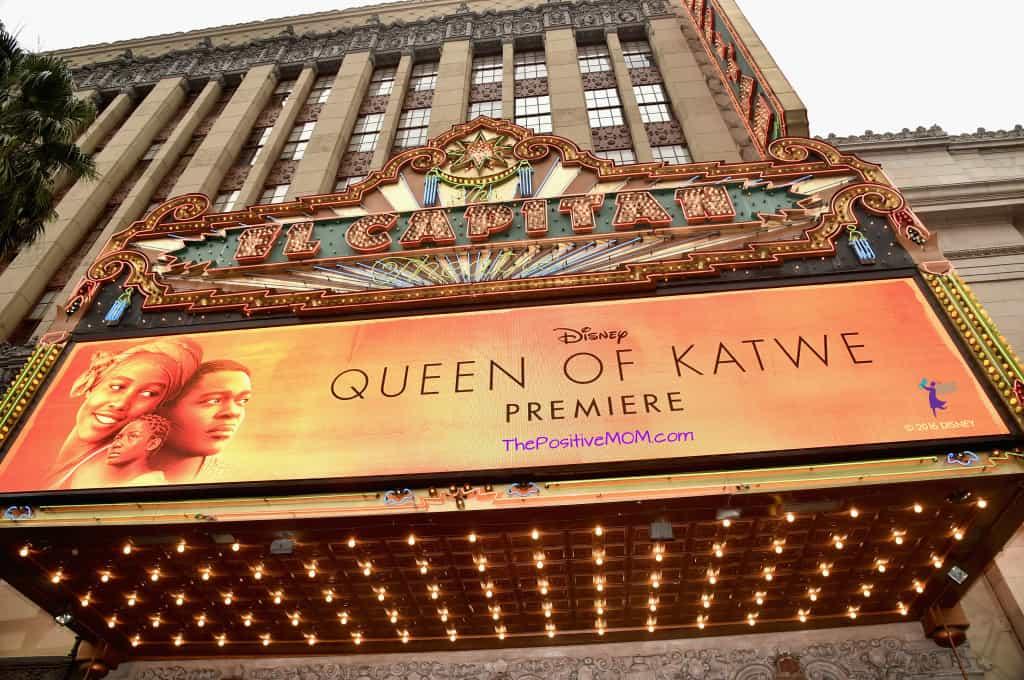 Disney Queen Of Katwe Premiere at El Capitan on Hollywood Boulevard