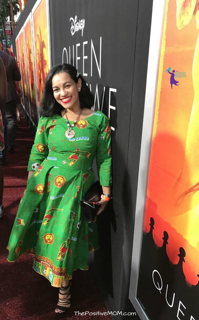 Disney's Queen Of Katwe Premiere - Elayna Fernandez ~ The Positive MOM wearing an African dress imported from Cameroon