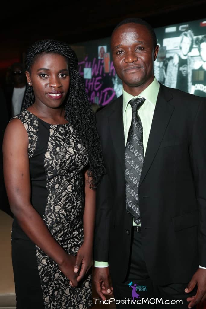 Phiona Mutesi and Coach Robert Katende at the Queen Of Katwe Premiere