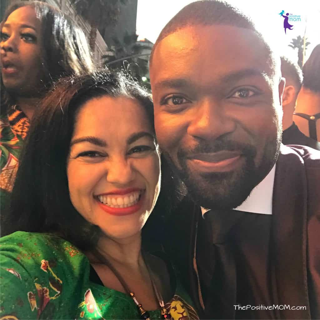 David Oyelowo and Elayna Fernandez - The Positive MOM - on the Queen Of Katwe Premiere in Los Angeles