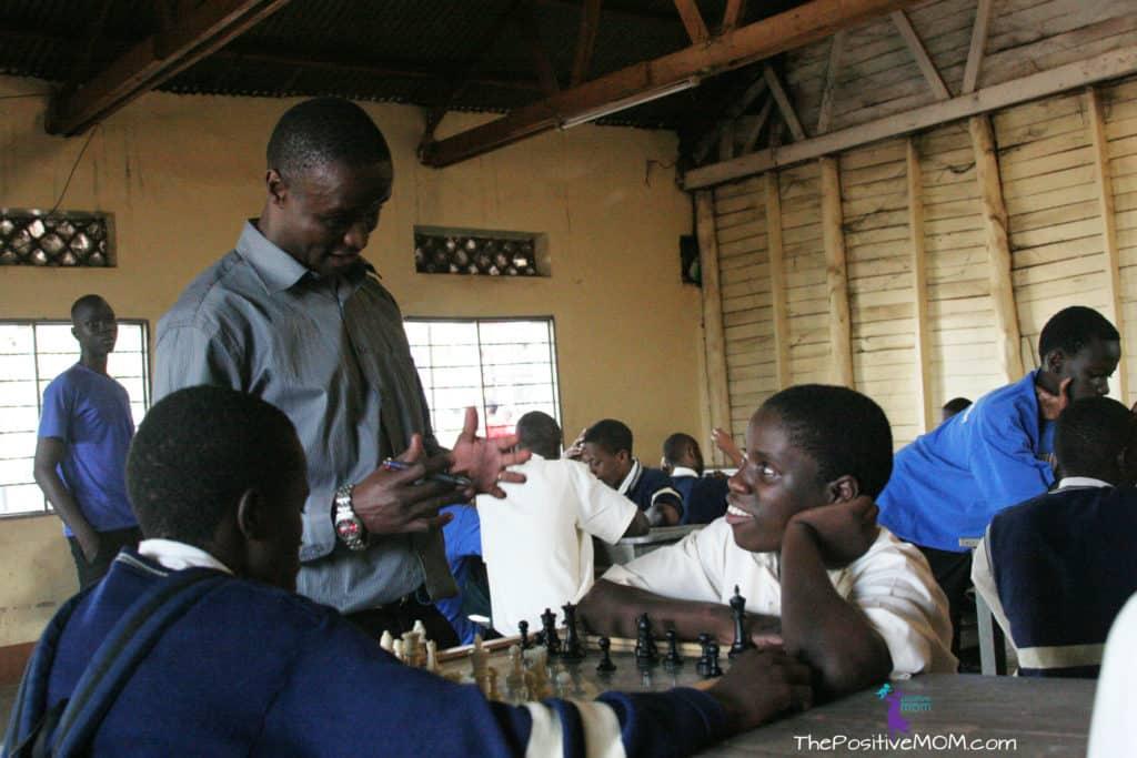Queen Of Katwe Robert Katende in his chess program in Uganda