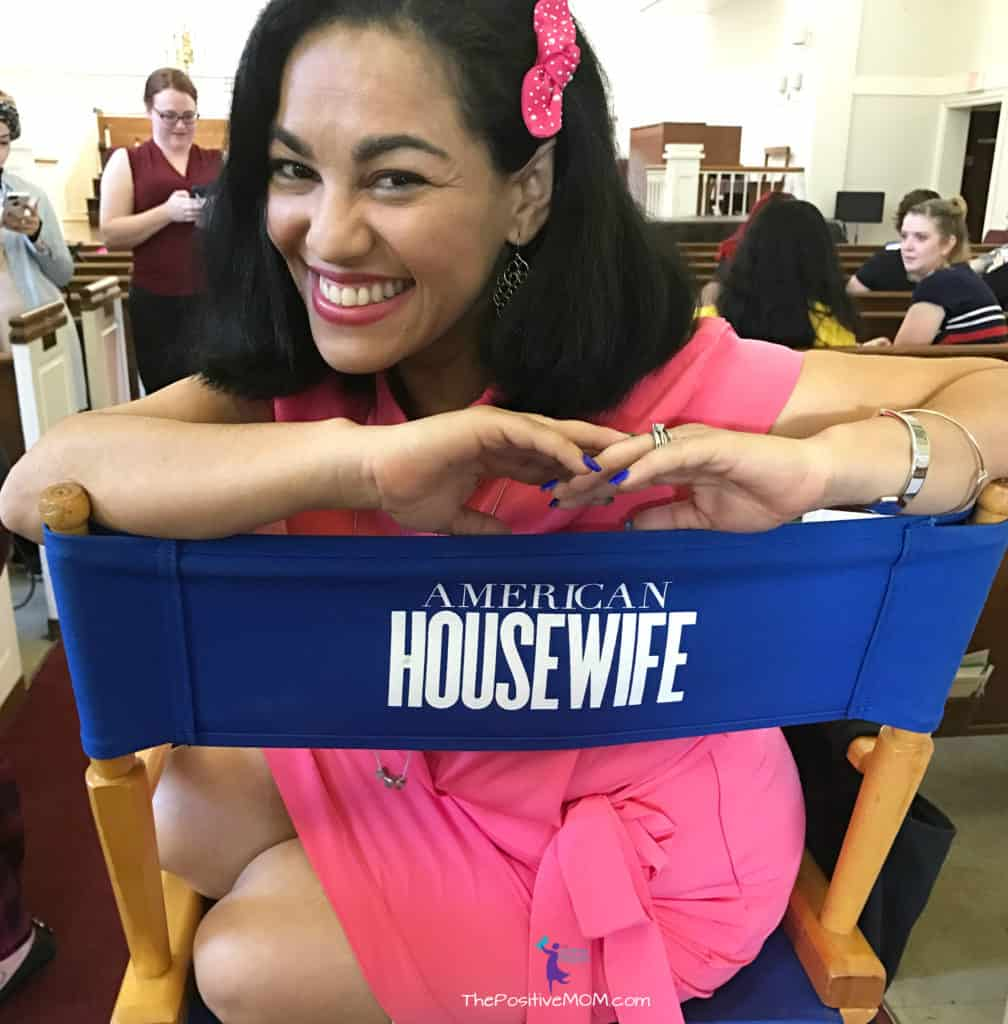 American Housewife ABC TV event - The Positive MOM director chair on location