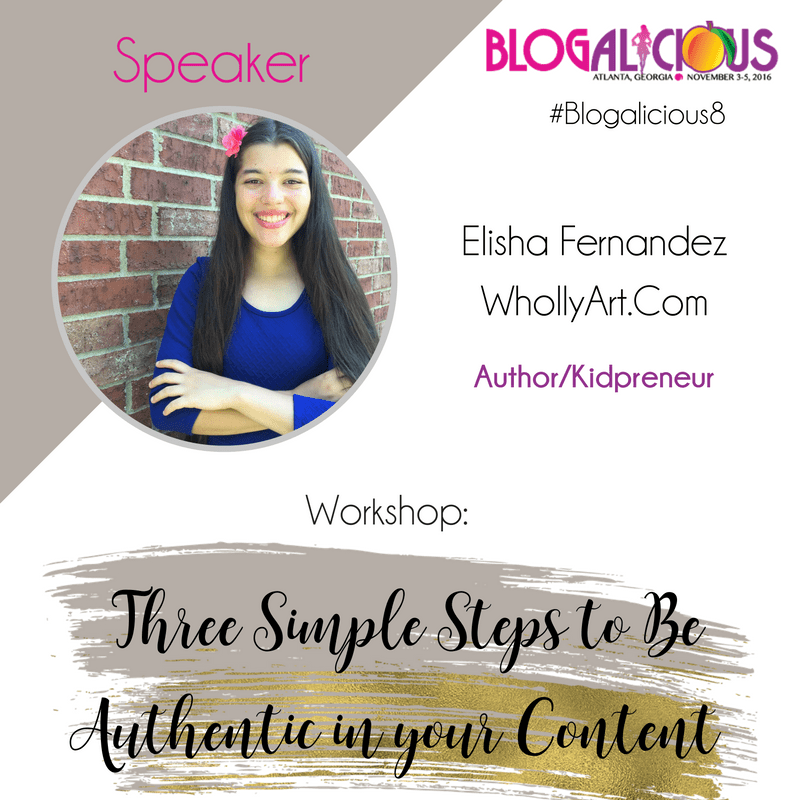 Elisha Fernandez - WhollyART - Blogalicious Speaker