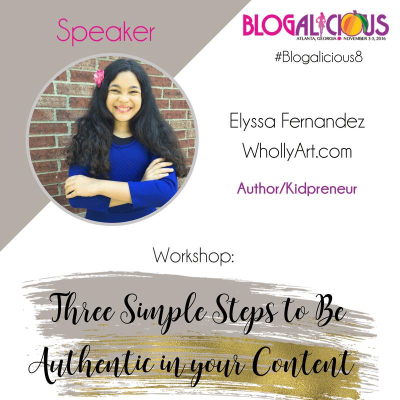 Elyssa Fernandez - WhollyART - Blogalicious Speaker