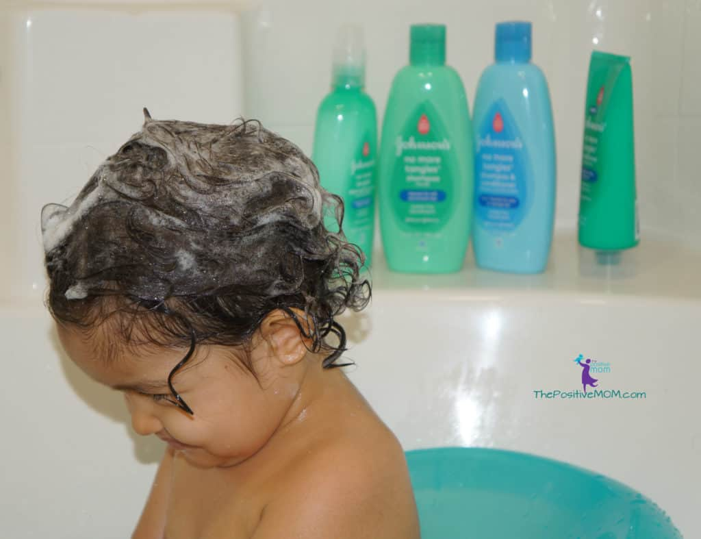 Johnson and Johnson baby bathtime with No More Tangles