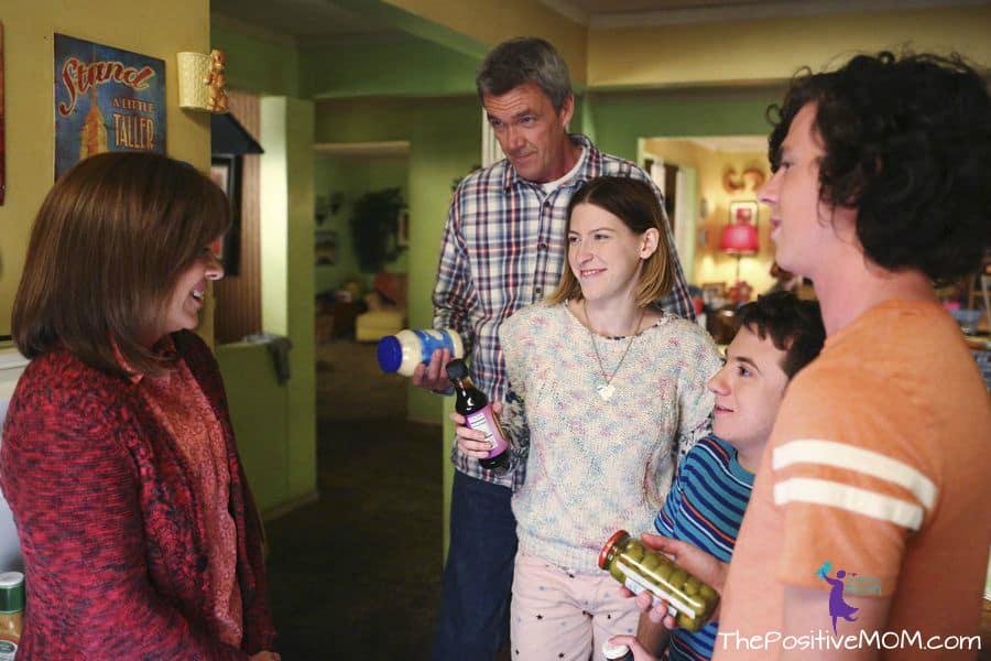 The Middle Season Premiere episode The Core Group - Patricia Heaton as Frankie, Neil Flynn as Mike, Charlie McDermott as Axl, Eden Sher as Sue and Atticus Shaffer as Brick.