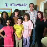 Top Disney Bloggers with the cast of ABC Network's The Middle - Patricia Heaton as Frankie, Neil Flynn as Mike, Charlie McDermott as Axl, and Atticus Shaffer as Brick.