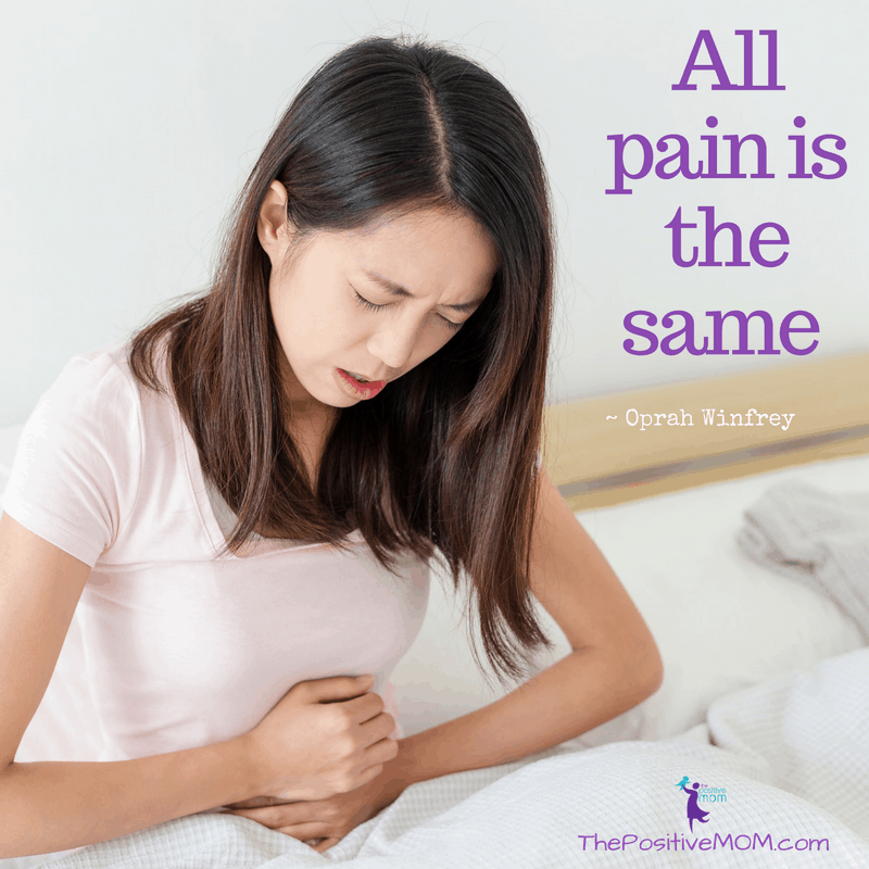 All pain is the same - Oprah Winfrey quote