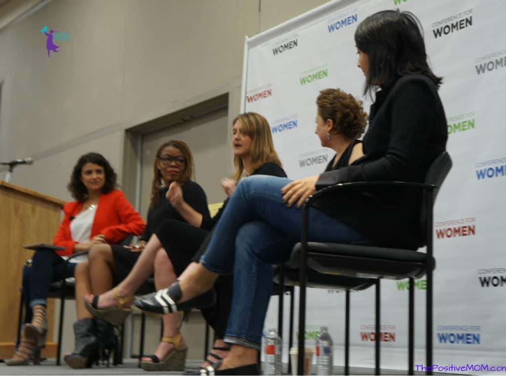 Ana Flores of WeAllGrow Latina during her panel at the Texas Conference for Women in Austin TX
